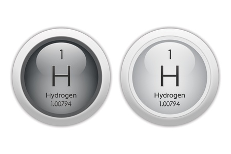 Hydrogen - two round web buttons Stock Photo - 9994896