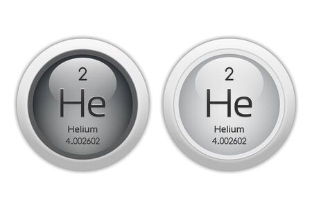 isotopes: Helium - two round web buttons