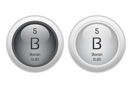Boron - two glossy web buttons photo