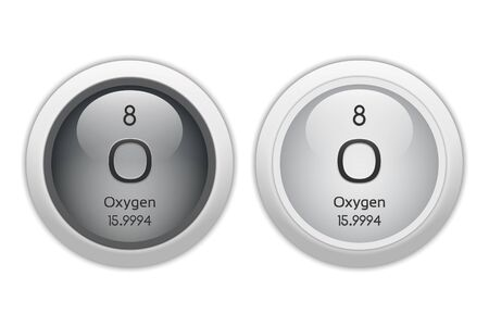 Oxygen - two glossy web buttons photo