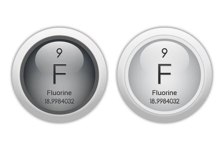 Fluorine - two glossy web buttons photo