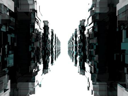 3d weird: Alien technology background Stock Photo