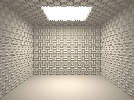 noise isolation: Acoustic room Stock Photo