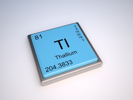 Thallium chemical element of the periodic table with symbol Tl photo