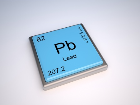 neutrons: Lead chemical element of the periodic table with symbol Pb