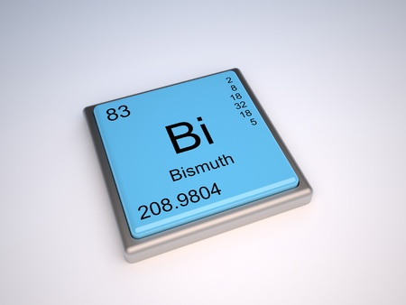 periodic: Bismuth chemical element of the periodic table with symbol Bi