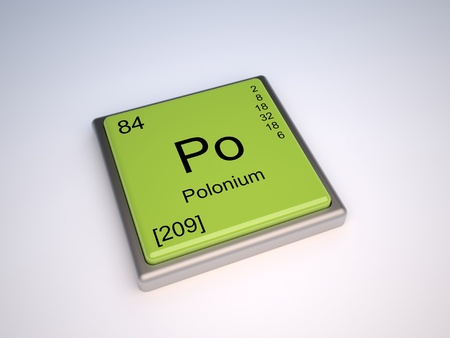 protons: Polonium chemical element of the periodic table with symbol Po
