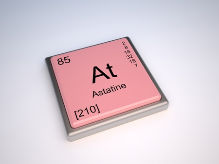 periodic: Astatine chemical element of the periodic table with symbol At