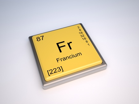 isotopes: Francium chemical element of the periodic table with symbol Fr