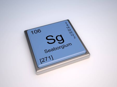 Seaborgium chemical element of the periodic table with symbol Sg photo