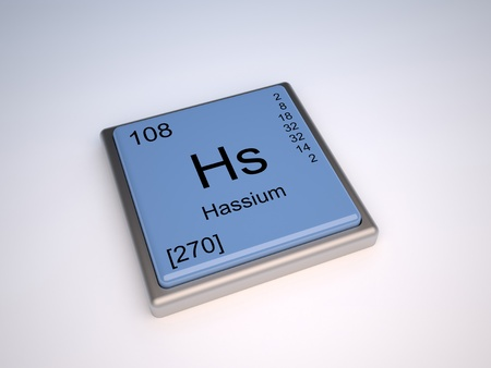 Hassium chemical element of the periodic table with symbol Hs Stock Photo - 10062432