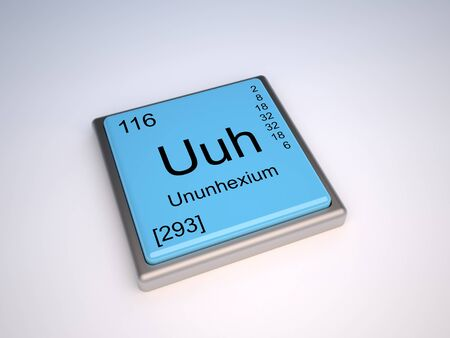 neutrons: Ununhexium chemical element of the periodic table with symbol Uuh