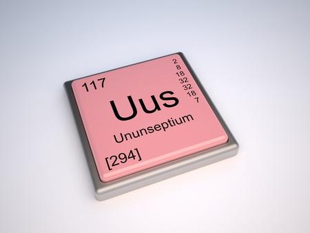 periodic element: Ununseptium chemical element of the periodic table with symbol Uus