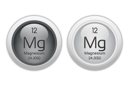 isotopes: Magnesium - two glossy web buttons Stock Photo