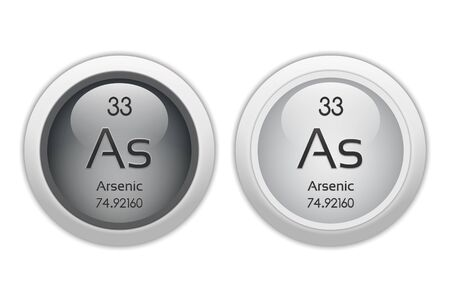 Arsenic - two glossy web buttons photo