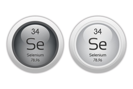 Selenium - two glossy web buttons photo