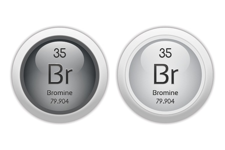Bromine - two glossy web buttons Stock Photo - 10230079