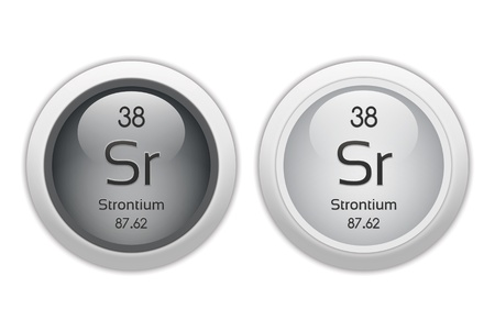 38: Strontium - two glossy web buttons