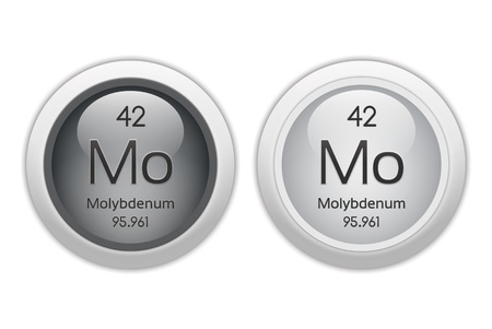 Molybdenum - two glossy web buttons photo