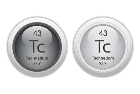 Technetium - two glossy web buttons photo