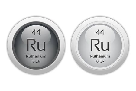 Ruthenium - two glossy web buttons photo