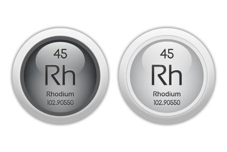 rhodium: Rhodium - two glossy web buttons