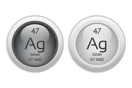Silver - two glossy web buttons photo