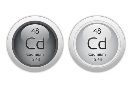 cadmium: Cadmium - two glossy web buttons Stock Photo
