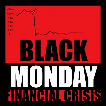 Black Monday - Financial Crisis photo