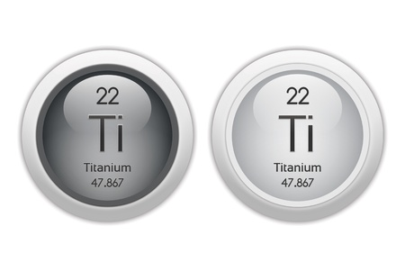 isotopes: Titanium - - two glossy web buttons Stock Photo