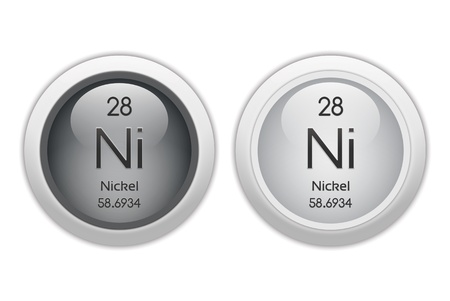 nickel: Nickel - two glossy web buttons Stock Photo