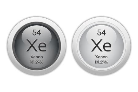 xenon: Xenon - dos botones de la tela brillante Foto de archivo