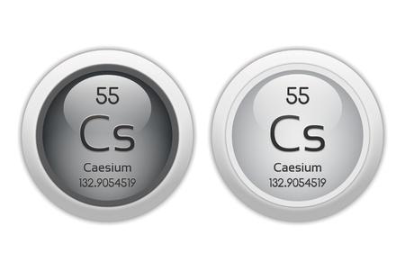 caesium: Caesium - two glossy web buttons