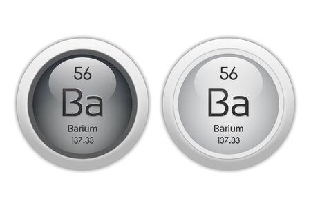 barium: Barium - two glossy web buttons