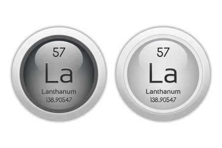57: Lanthanum - two glossy web buttons