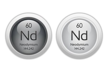 nb: Neodymium - two glossy web buttons Stock Photo