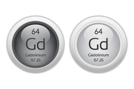 Gadolinium - two glossy web buttons photo