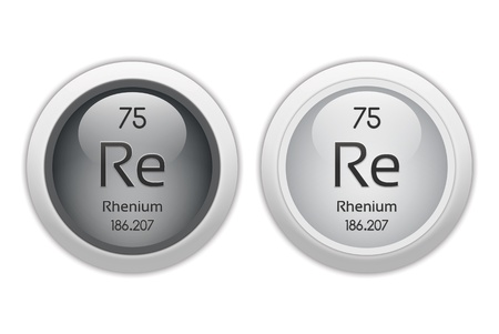 re: Rhenium - two glossy web buttons Stock Photo