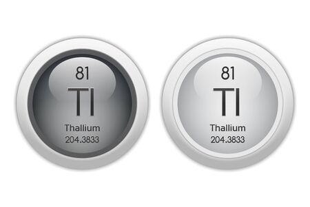 81: Thallium - two glossy web buttons