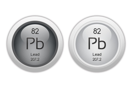 Lead - two glossy web buttons Stock Photo - 10469931