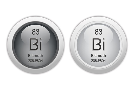 bismuth: Bismuth - two glossy web buttons