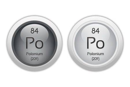 po: Polonium - two glossy web buttons