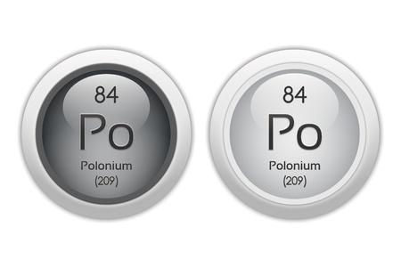polonium: Polonium - two glossy web buttons