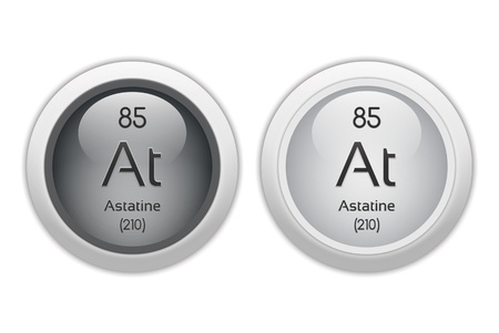 Astatine - two glossy web buttons Stock Photo - 10469943