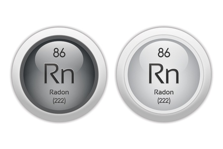 Radon - two glossy web buttons Stock Photo - 10469941