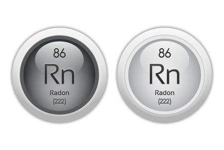 radon: Radon - two glossy web buttons