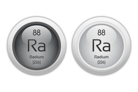 Radium - two glossy web buttons photo