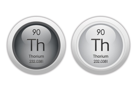 thorium: Thorium - two glossy web buttons Stock Photo