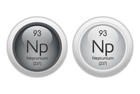 Neptunium - two glossy web buttons photo
