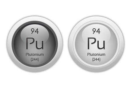 Plutonium - two glossy web buttons Stock Photo - 10469932